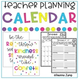 Teacher's Planning Calendar updated for 2015-2016 school year