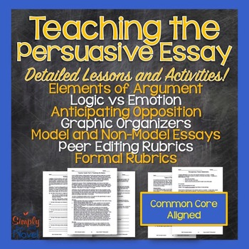 Persuasive Argumentative Essay Unit - Logic, Sample Essays