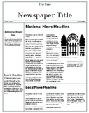 Teaching Computer Publisher Newspaper Template