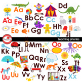 Teaching Phonics Clipart and Flashcards by Poppydreamz NOW