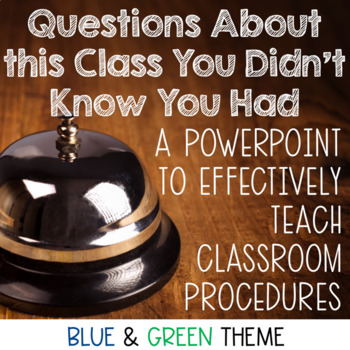 Teaching Procedures PowerPoint with Detailed Notes- Navy and Green