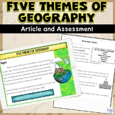 Teaching the Five Themes of Geography Packet and Assessment