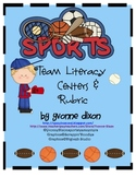 Team Sports Literacy Centers and Tic Tac Toe Rubric