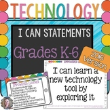 Technology I Can Statements for the K-6 Computer Lab BUNDLE