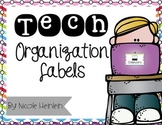Technology Organizational Labels - Color and Ink-Saving Bl