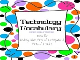 Technology Vocabulary Word Wall Posters