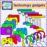 Technology gadgets clipart
