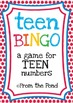 Teen Bingo - A Printable Game for Numeral Identification