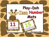 Teen Number Play-Doh Mats