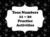 Teen Numbers 11-20 Activities
