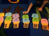 Teen Numbers Matching Activity; Ice Cream Theme; CCLS; Hard Good