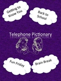 Telephone Pictionary First Day of School Activity