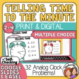 Telling Time Task Cards to the Minute: Multiple Choice
