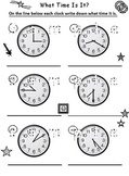 Telling Time - What Time Is It?