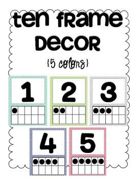 Ten Frame Decor {5 chevron prints}