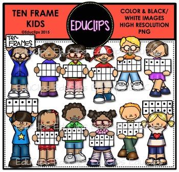 Ten Frame Kids Clip Art Bundle