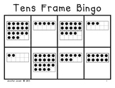 Tens Frame Bingo With Numbers 1-20