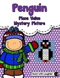 Tens and Ones Place Value Mystery Picture (Penguin)