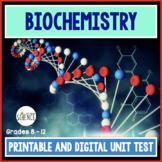 Biochemistry Unit Test  The Chemistry of Biology Organic C