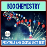 Biochemistry Unit Test  The Chemistry of Biology Organic C