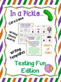 Testing Fun Card Game, Writing Choice Board Activities, an