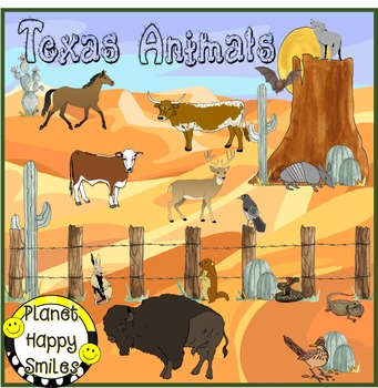 Texas Writing Activity ~ Texas Animals