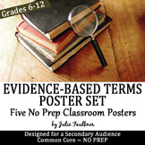 Evidence Based Signal Phrases, Citing Vocabulary Posters, FREE