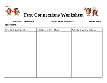 Text Connection Worksheet