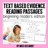 Text Evidence Passages For Beginning Readers