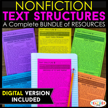 Text Structure Resources for Non-Fiction } NO Prep