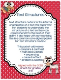 Text Structures, Main Idea, Sequence, Compare & Con, Cause