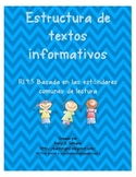 Non Fiction Text Structures in Spanish ( No Prep / Common