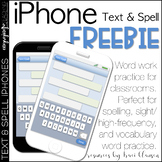 FREE Text and Spell Word Work iPhones
