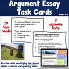 Argumentative Essay Task Cards ~ Text based!