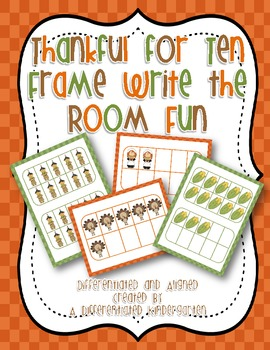 Thanks for Ten Frame Write The Room Fun-Differentiated and