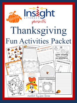 Thanksgiving Activities Packet -Writing Prompts, Word Sear