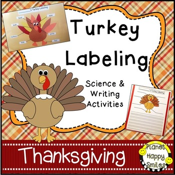 Thanksgiving Activity ~ Turkey Labeling Science and Writin