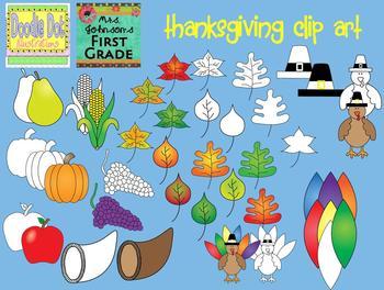 Thanksgiving Art Graphic Set
