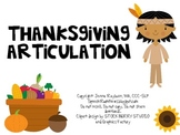 Thanksgiving Articulation: Speech Therapy Activity