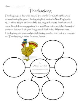 Thanksgiving - Bubble Map
