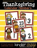 Thanksgiving Calendar Numbers