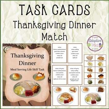 Thanksgiving Dinner Meal Serving Life Skill Task
