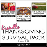 Thanksgiving English Lessons for Teens, NO PREP Survival P