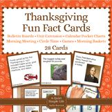 Thanksgiving Fact Cards - Fun Unit Extension Activity, Bul