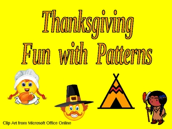 Thanksgiving Fun with Patterns