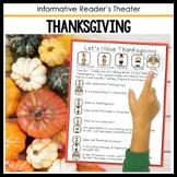 Thanksgiving Informative Reader's Theater