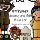 Thanksgiving Literacy and Math Centers MEGA Unit