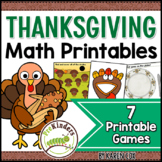 Thanksgiving Math Activities Pack