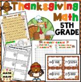 Thanksgiving Math - 5th Grade