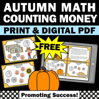 Thanksgiving math money games activities task cards 2nd 3rd 1st grade